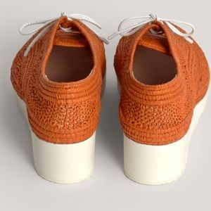 Robert Clergerie Rafia Weave Wedge Shoes